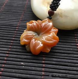 $enCountryForm.capitalKeyWord Australia - natural china HUANGLONG jade beige carved lucky bauhinia pendant Hua kai fu gui jade pendant necklace Fine Jewelry