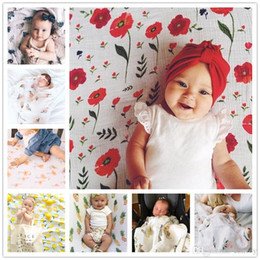 Infant Robes NZ - Ins Newborn Baby Swaddling Blankets Robes Baby Floral Swaddle Wrap Cloth Infants 100% Cotton Towel Wrap Cute Bird Fruit Animal Print BHB17