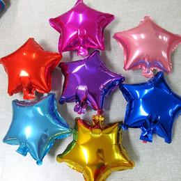 $enCountryForm.capitalKeyWord NZ - 2Pc set 18 inch Five point Star Foil Balloons Wedding Birthday Party Decoration supplies balon Christmas Engagement air globos