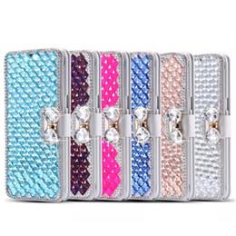 lg diamond wallet 2018 - For LG Aristo 2 Tribute Dynasty REBEL 3 case,Diamond Bowknot Shiny Crystal Rhinestone Purse wallet Leather Card Slot Pou