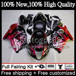 $enCountryForm.capitalKeyWord NZ - Body For SUZUKI Hayabusa Red flames GSXR1300 96 97 98 99 00 01 56PG16 GSXR 1300 GSX R1300 GSXR-1300 02 03 04 05 06 07 Fairing Bodywork