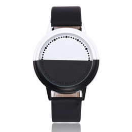 New Watch Touch Screen Australia - wengle New 2018 Cay personality Black white shell fashion LED Touch screen student Lovers electronic Watch