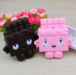 squishy chocolate 2019 - Cute chocolate fashion Squishy toys two colors choose let you more relax relieve stress and happy Squishy rebound toys V