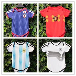 8dc2bd879b6 Baby soccer Jersey argentina germany japan Belgium climb jumpsuit For 6 To  18 Month 2018 World Cup soccer Shirt 2018 Baby Football uniforms