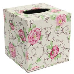 $enCountryForm.capitalKeyWord UK - Durable Room Car PU Leather Square Tissue Box Paper Holder Case Cover Napkin Size: 13.8 * 13.8 * 13cm 6color