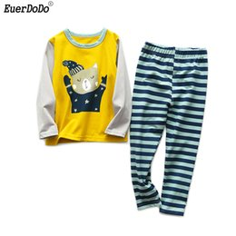 a31871d0ee Pajamas sets for kids online shopping - Spring Autumn Kids Pajamas Cotton  Cartoon Long Sleeve Pajamas