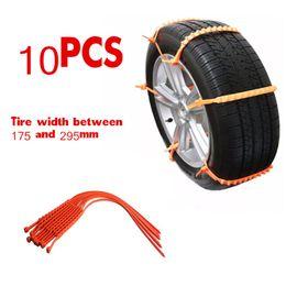 Hardware Nett 10 Stücke Universal Reifen Räder Schnee Ketten Auto Schnee Sicherheit Sicherheit Reifen Notfall Verdickung Winter Anti-skid Ketten Ketten