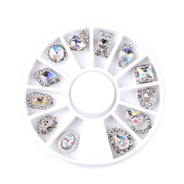 New Nail Art Decorations Transparent Irregular AB Crystal Diamonds 3d Manicure Pedicure Oval Decors DIY Nails Decal Accessories on Sale