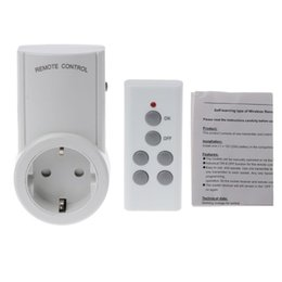 433.92 MHz Control remoto inalámbrico Toma de corriente de la casa Aprendizaje remoto Conector de enchufe de la UE 12V Controlador