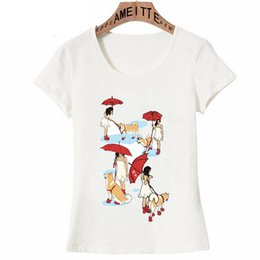 $enCountryForm.capitalKeyWord NZ - 2019 New Chase the clouds away Print T-Shirt Cute Women T-Shirt Girl Casual White Tops Funny Woman and Dog Art Summer Tees