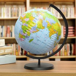 Globe map ball online shopping globe map ball for sale 30cm inflatable world globe earth with holder teaching geography map beach ball kids educational toy miniatures office gadgets gumiabroncs Gallery