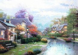 $enCountryForm.capitalKeyWord Australia - Thomas Kinkade Oil Painting art Landscape series Reproduction High Quality Giclee Print on Canvas Modern Home wall Art Decoration JHFJ472
