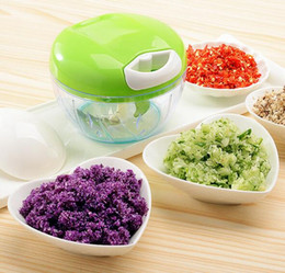 manual kitchen chopper 2019 - New 20pcs Manual Meat Grinder Plastic+Stainless Steel 420 Vegetable Pork Beef Choppers Shredding Tool Home Kitchen Utens