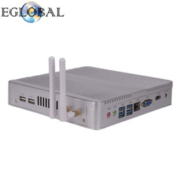 Discount intel core i5 desktop - Eglobal 4K Barebone Fanless Mini HTPC PC V8-4200U with Intel Core i5 4200U Silver Or Black Color Aluminum Alloy Desktop