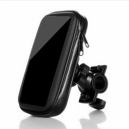 5.5 inch phones gps 2019 - Waterproof bicycle bag Outdoor Vehicles Motorcycle Bike Mobile Phone GPS Navigation Case Holder Rack Bracket for 4.8 5 i