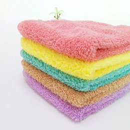 Wholesale free fedex clothes online – ideas Square Soft Hand Towel Car Cleaning Wash Clothes Children Adult Face Towels DHL FEDEX
