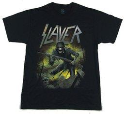 Custom Print T Shirt Cheap Australia - Slayer War 2015 Tour Black T Shirt New Official Band Merch 100% cotton tee shirt custom printed tshirt free shipping cheap tees