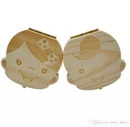 $enCountryForm.capitalKeyWord UK - Tooth Box for Baby Save Milk Teeth Boys Girls Image Wood Storage Boxes Creative Gift for Kids Travel Kit K0060