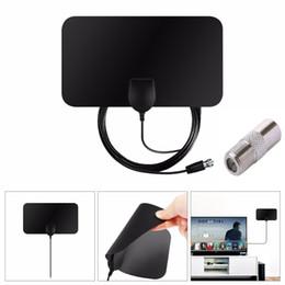 Опт Бесплатная внутренняя цифровая телевизионная антенна HDTV Antena TV Радиус Aerial Surf HD Fox УКВ УВЧ DVB-T2 Аналоговый усилитель антенны для интерьера