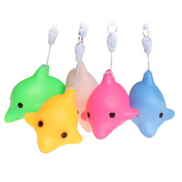 Discount dolphin night lights - Novelty & Gag Toys Flash Luminous Dolphins Toys Kids Gifts Night Lights Color Led Lamp Kids Optical Educational Plastic