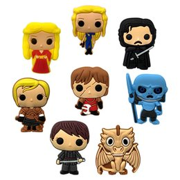 $enCountryForm.capitalKeyWord NZ - 20+ Game of Thrones Cartoon Figure PVC Badges Brooches Button Clothes Bag Shoes Packed by Gift Bag Decor Kid Party Gift Accessory Badges