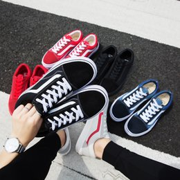 Knee sKateboard online shopping - 2018 New Athentic Vans Classic Old Skool Canvas Mens Skateboard Designer Sports Running Shoes for Men Sneakers Women Casual Trainers