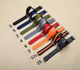 Nouveau 5 Bande de Montre Militaire Qualité Nylon ZULU OTAN 20mm 22mm 24mm Bracelet G10 Noir Sélection de couleurs multiples en Solde