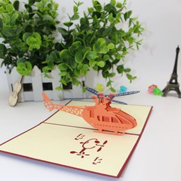 Diy greeting cards birthday online shopping diy greeting cards new pattern 3d helicopter greeting cards originality carve of paper children diy hollow out happy birthday party supplies 3 9me ww m4hsunfo