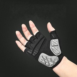 Glove cyclinG Gel online shopping - Ventilation Shockproof Bicycle Glove Half Finger Anti Slip Gel Pad Wear Resisting Breathable Outdoors Men Women Sport Cycling Gloves lt jj