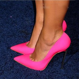 $enCountryForm.capitalKeyWord Canada - Sexy Pointed Toe Women Wedding Pumps Patent Leather Metal Stiletto High Heels Candy Colors Party Dress Shoes Woman heels shoes