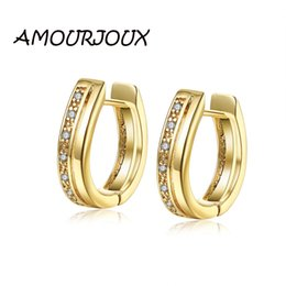 Stud Earrings Amourjoux Vintage Blue Zircon Evil Eye Gold/white Color Stud Earrings For Women Ear Studs On Earring Without Return Jewelry & Accessories