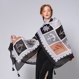 Scarf Shawl Linen Cotton NZ - 2018 New Summer Style Cotton and Linen Scarf Beach Shading Large Shawl Thin Sunscreen Art Scarf.