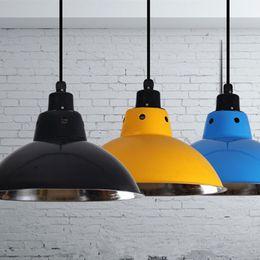 $enCountryForm.capitalKeyWord NZ - Industrial Pendant Light Retro Metal Hanging Lamps For Kitchen Bar Coffee Office Home Lighting Fixtures Vintage Pendant Lamps