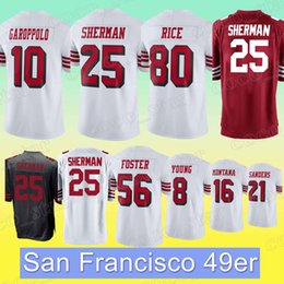 New rice online shopping - San Francisco er jersey Richard Sherman Jimmy Garoppolo Jerry Rice Joe Montana new jerseys