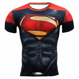 China Spider man 3D Print t shirts Men Compression fitness shirts Superhero Tops costume Short Sleeve Fitness Crossfit T-shirts A05 cheap black spider man costume suppliers