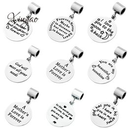 Stamping dog tagS wholeSale online shopping - Xinyao Set Stainless Steel Dog Tags Silver Tone mm Round Word Pendants Stamping Tag with mm Bail for DIY Necklace Finding