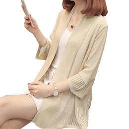 6a7de59dca61 2018 Summer Women Sweater Female Knitted Cardigan Sunscreen thin coats Air  Conditioning shirt Shawl coat cardigans feminino