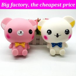 Huge bears toy online shopping - Squishy Big ears bear cm cm cm huge Slow Rising Soft Squeeze Cute Cell Phone Strap gift Stress children toys Decompression Toy
