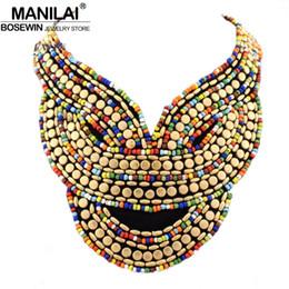весь saleMANILAI бохо ювелирные изделия мода многоцветный конфеты бисер воротник ожерелье ручной работы колье для женщин платье заявление аксессуары 2017