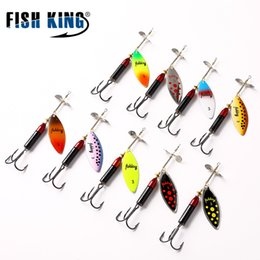 fishing spinners 2019 - lure FISH KING Mix Color Mepps Long Cast Deep Running Spinner Lure Spinner Bait Fishing Hard Fake Fish Metal Lures disco