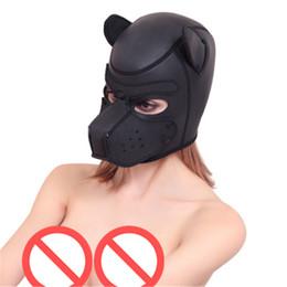 Bdsm Gears Australia - BDSM Sex Toys Black Leather Head Harness With Muzzle Leather Muzzle Bondage Restraint Gear Adult Sex Product A778