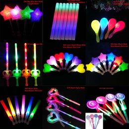 Novelty Love Heart Led Glowing Flashing Sticks Children Blinking Fairy Wands Wedding Birthday Party Favor Gift Halloween Novelty & Special Use