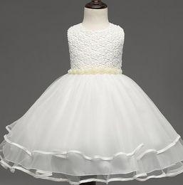 $enCountryForm.capitalKeyWord Australia - Ball Gown Flower Girl Dresses Evening White Organza With Flowers 2018 New First Flower Girl Dress vestidos de primera comunion