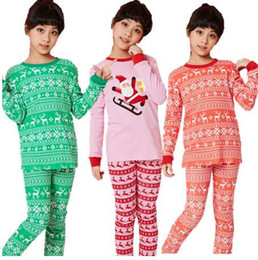 Toddler Christmas Boy Australia - Kids Pajamas Christmas Boys Sleepwear Girls 100% Cotton Pijama for Toddler 2-piece Set Children Winter Clothes Christmas clothes