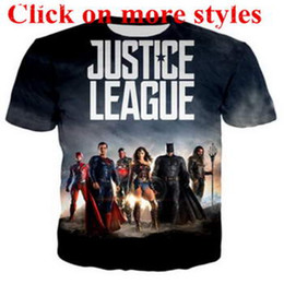 justice league shirts UK - Justice League Movie shirts New fashion men women 3d character t-shirts t shirt 3D Print tshirt tops 101