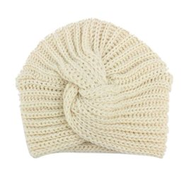 9450b58abd8 BMF TELOTUNY Fashion Children Baby Girls Knitting Hat Beanie Turban Head  Wrap Cap Pile Cap Apr5 Drop Ship
