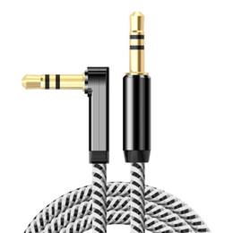 3.5mm câble auxiliaire audio cordon droit de 90 degrés câble AUX avec soulagement de ressort en acier pour casque iPods iPhones ordinateur portable maison stéréo