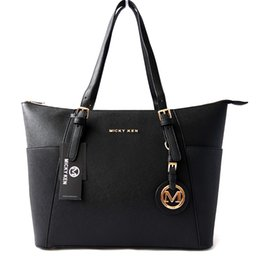 Large Mom Bags Canada - elegant women bag large shoulder bag good quality handbag with cross stripe PU leather big mom bags