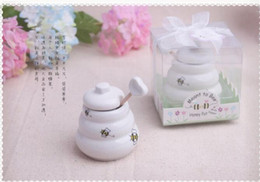 $enCountryForm.capitalKeyWord UK - Meant to Bee Ceramic Honey Pot wedding favor baby shower party birthday gift children gift present For guests