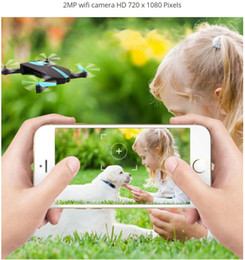 Wifi Electric Australia - Mini Foldable Selfie Drone Elfie Pocket Drone With Camera Wifi Rc Helicopter Remote Control Toy Vs JJRC H37 Jy018 523 Quadcopter